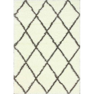 nuLOOM Shag Brown & White Plush Area Rug & Reviews | Wayfair
