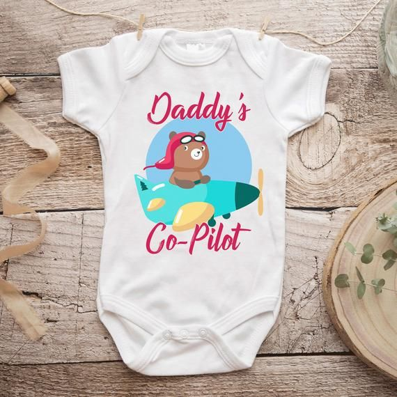COPILOT BODY SUIT PERSONALISED DADDYS LITTLE BABY GROW GIFT