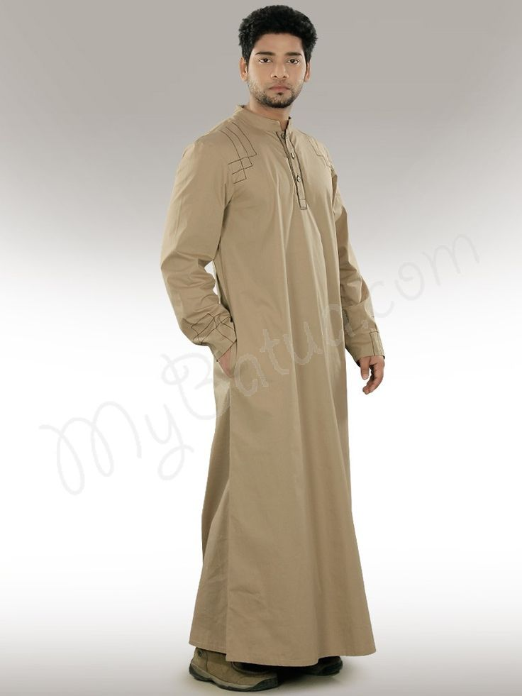 Islamic Mens Party Wear Ammar Beige Galabiyya|MyBatua.com Style No : GM-024 Price : $59.50 Available Sizes XS to 7XL