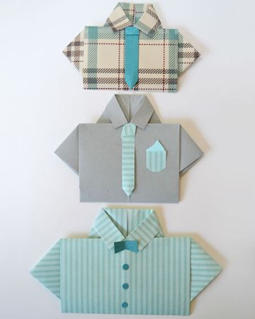 Fathers Day shirt card diy with step by step instructions for making a father's day shirt card.  We'll make one for Nonno without the tie so it looks like a golf shirt!  #sheknows.com