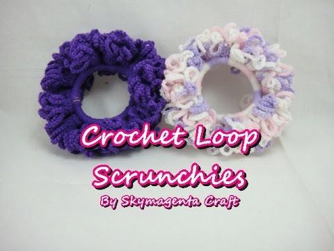 Crochet Tutorial - Loop Scrunchies - YouTube