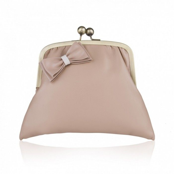Made from the most deliciously soft leather in a timelessly classic style,  the Tulip clutch bag by Rachel Simpson features a darling little bow in  matching ...