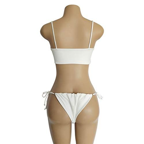 8b29f5cdc43 Carprinass Women's Sexy Cropped Bikini Sets Strappy Tie Swimsuits 2 Pcs,  #Ad #Cropped