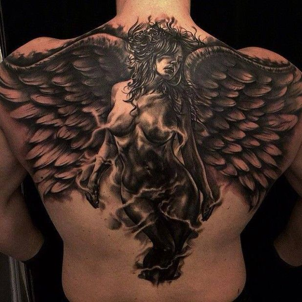 15 Tantalizing Dark Angel Tattoos