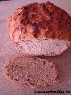 100% roszkenyér - Hozzávalók: 50 dkg rozsliszt (GL-90) 1 csomag porélesztő 1 tk só 3,5 dl víz