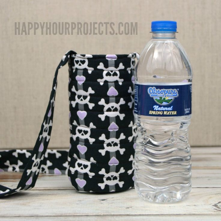 Make this DIY water bottle sling for hands-free carrying in about 15 minutes with this easy pattern.