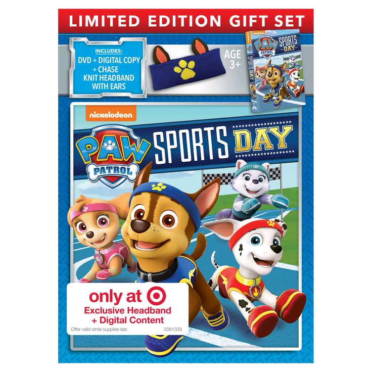 Paw Patrol Sports Day Limited Edition Gift set (Target Exclusive) Dvd + Digital + Headband + Bonus Content