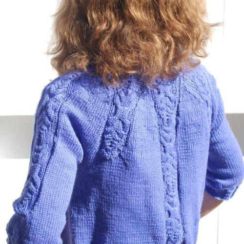 Pattern number 62 Knitted short cabled jacket