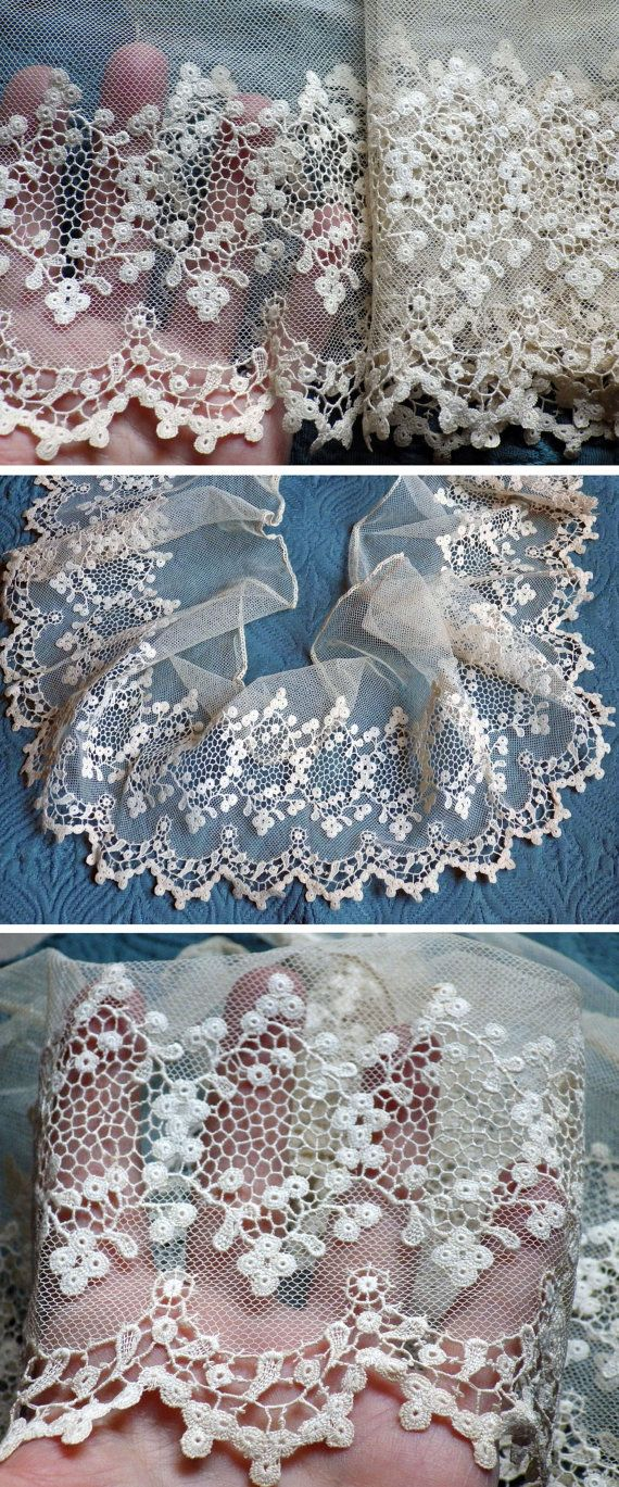 Antique Lace Vintage Lace French Silk Tambour by AntiqueDelights, $65.00