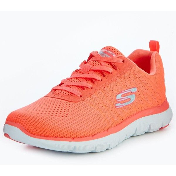Skechers Skechers Flex Appeal 2.0 Break Free Trainer (105 CAD) ❤ liked on Polyvore featuring shoes, sneakers, skechers trainers, skechers shoes, skechers sneakers, skechers and skechers footwear