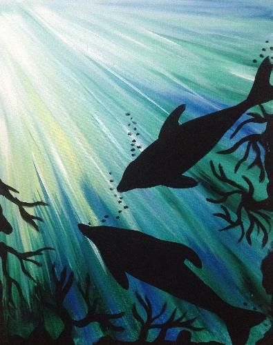 Dolphin Play at Level 20 Lounge Pittsburgh Paint Nite 04/16/2015