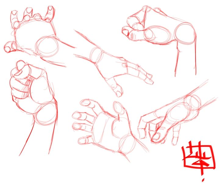 how to draw hand positions