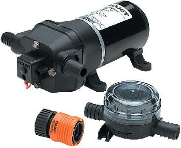 FloJet 04325143A Marine Heavy Duty Water Pressure Pump (4.5-GPM, 40-PSI, 12-V...