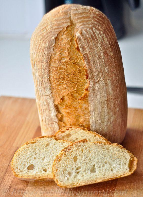 Оглушительный пшеничный хлеб. Замес в хлебопечке.: trablin