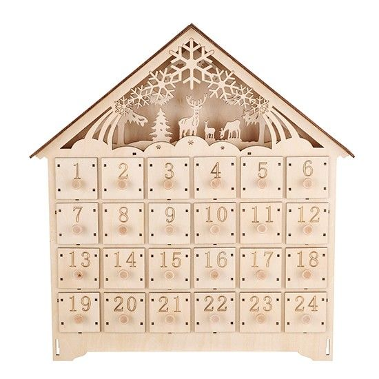 Linea woodland charm wooden advent calendar | Winter whites trend | Christmas | PHOTO GALLERY | Housetohome.co.uk