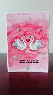 Swans in love- Valentine's Day card. #cardmaking #Valentine's Day #Valentine card