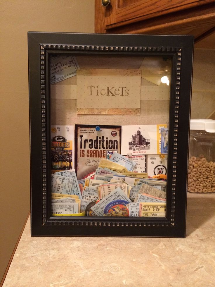 Ticket Stub Shadow Box Shadow Box From Hobby Lobby Easy