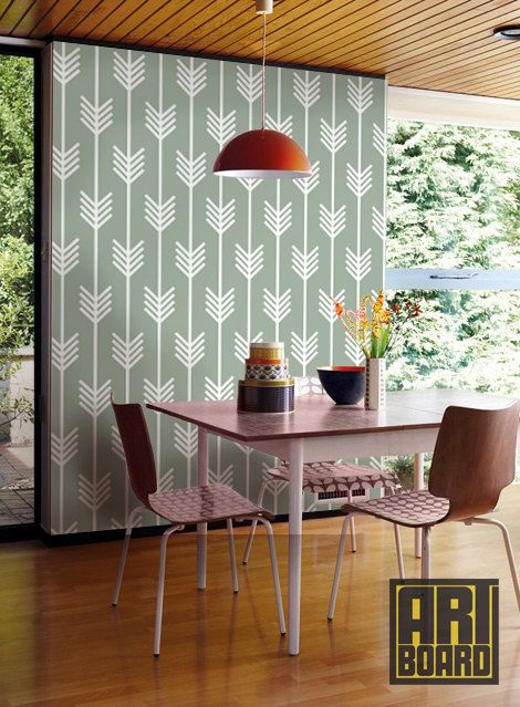 "Arrows pattern - self adhesive DIY wallpaper, home decor, Peel n Stick 20.9""x 8' G014 on Etsy, £46.69"
