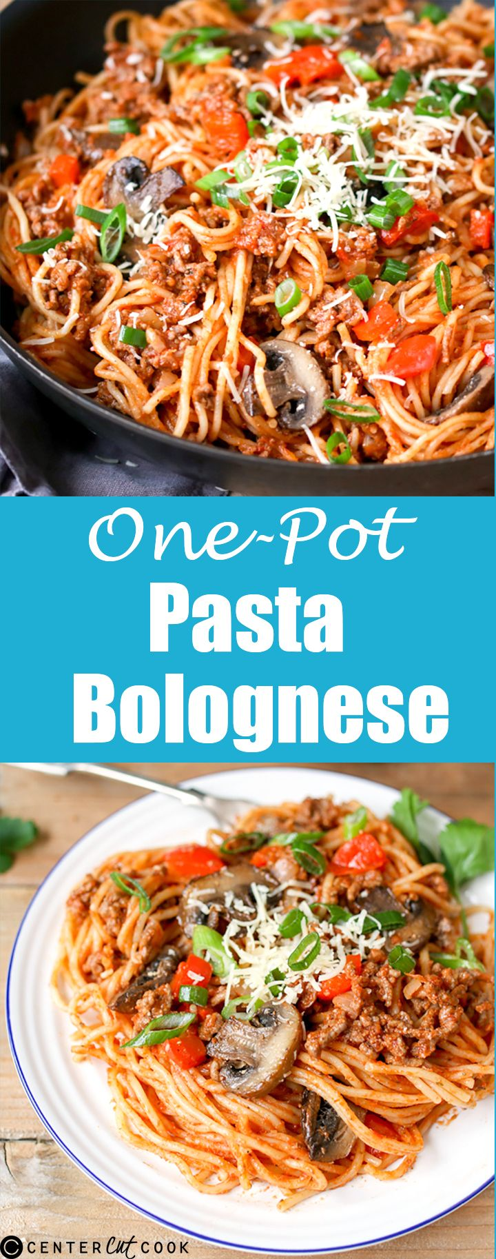 Save on the washing up and make this delicious PASTA BOLOGNESE all in one pan!