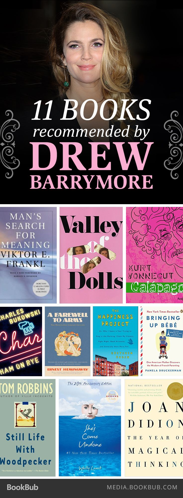 Drew Barrymore recommends this list of 11 fantastic books.