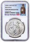 2008 Great Britain 1 oz Silver Britannia £2 NGC GEM Unc Big Ben Label SKU51902 Best Prices  #bigben #greatbritain #biggem