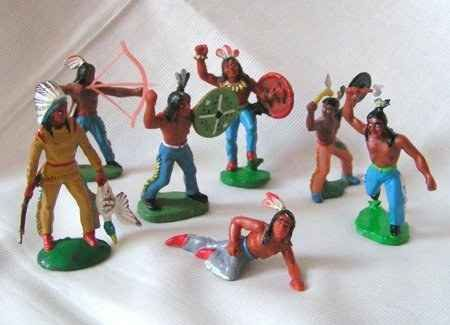 Diese Indianer gehörten immer zu Deinem Spielzeug.