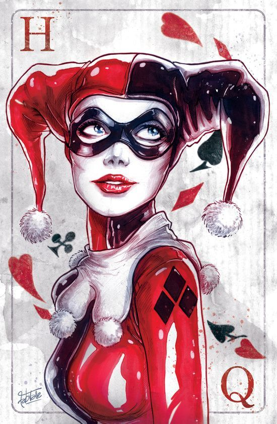 Harley Quinn Playing card | poker card design | DC comics, batman, gotham city Villains | The joker