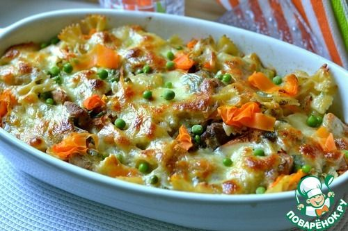 Запеченные макароны - кулинарный рецепт