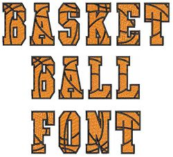 Styles Embroidery Font: BASKETBALL Font from Embroidery Patterns