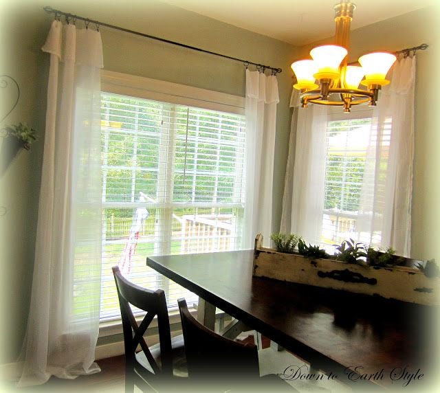 White Flowing Curtains Easy And Cheap Cheap Window