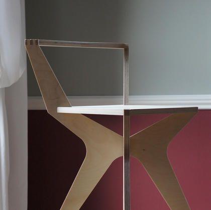 low back day chair - birch plywood furniture - flatpack - nomadic design studio - bespoke - handmade