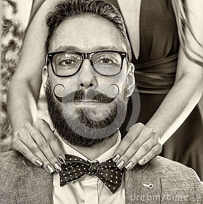 Old-fashioned Man With A Beard And Curled Mustache - Download From Over 50 Million High Quality Stock Photos, Images, Vectors. Sign up for FREE today. Image: 49260327