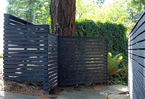mid century modern fence - Google Search
