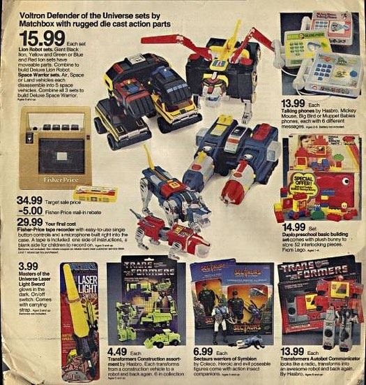 The #80s had the best toys. #TBT to your #ChristmasList from yesteryear. #Voltron #Transformers #Devastator #Decepticons #Autobots #Blaster #StarWars #LukeSkywalker #LightSaber #Sectaurs #80stoys #NerdChristmas Saw this on facebook and had to repost. Sears catalog maybe? I think my buddy @comicbook_ads will appreciate this.
