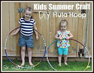 Kids Summer Craft DIY Hula-Hoop from Sixsistersstuff.com #DIY #Hula Hoop