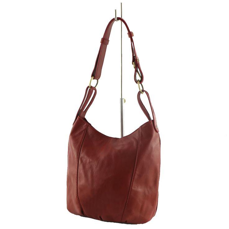 Comoda borsa a spalla in pelle perfetta per il giorno - Genuine leather shoulder bag perfect for the day! #genuineleatherbag #madeinitaly #borsagiorno #serendipityshopping