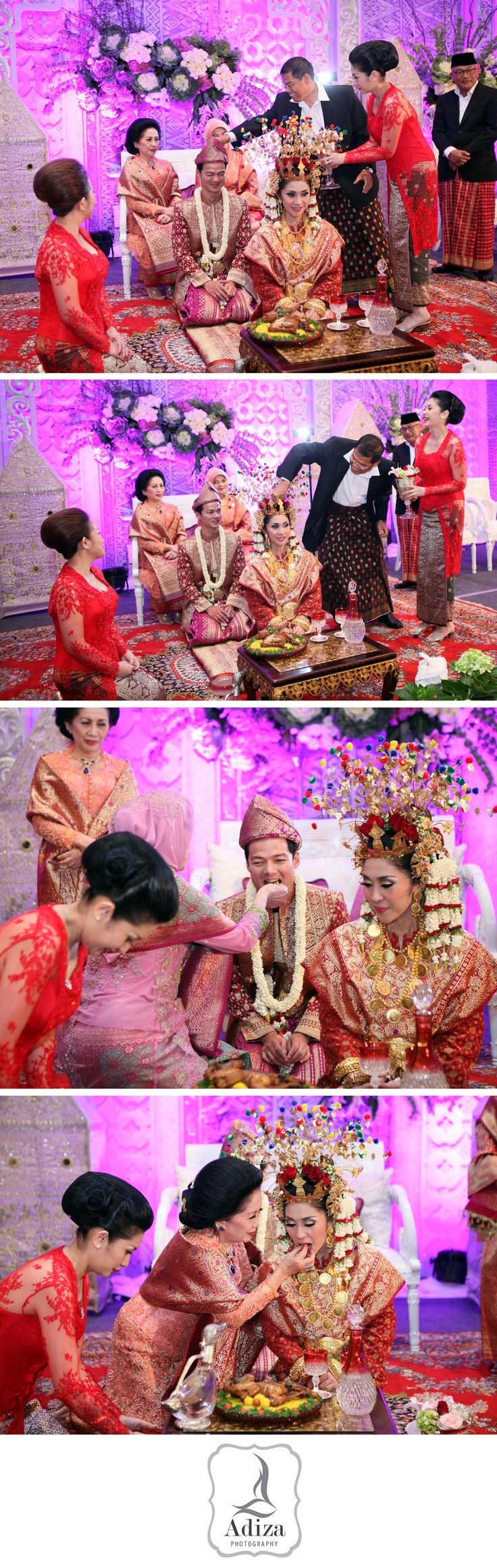 """""""Cecepan"""" Parentd feeding the bride for the last time."""