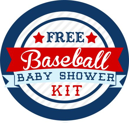 Free Baseball Baby Shower Kit - Shower Invite, Concession Pennant Banner, Food Labels, and more!