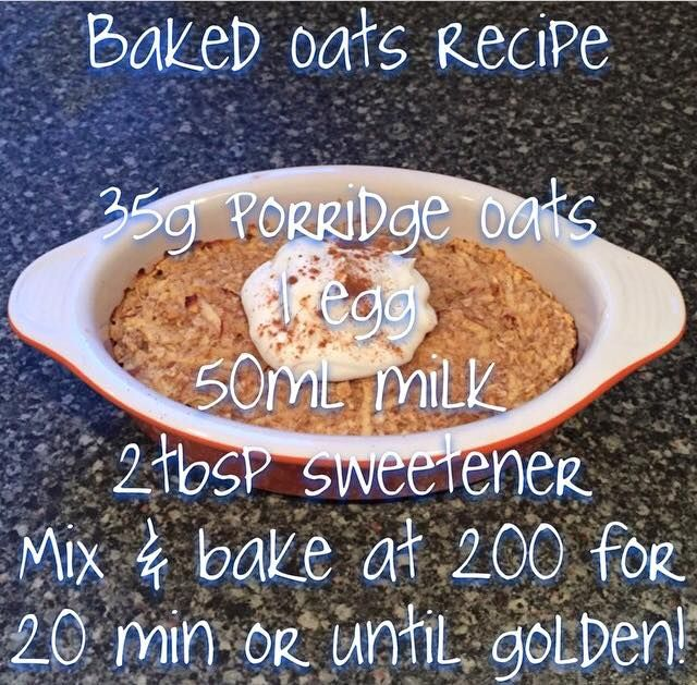 Baked Oats - Slimming World