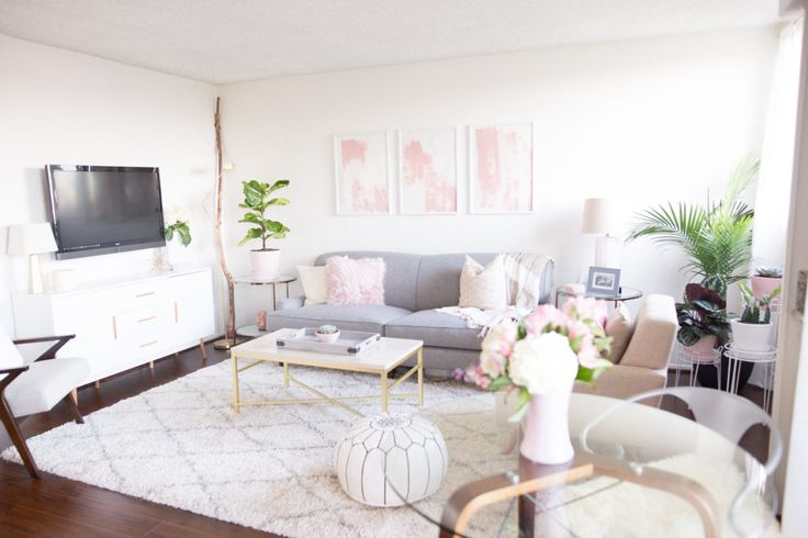 Small space design goals!! This studio apartment uses light colors and modern furniture to transform into an open, airy home.