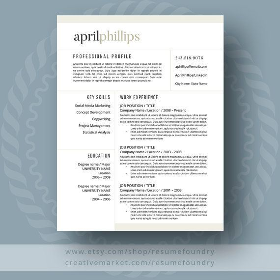 236 best Modern Resume Templates images on Pinterest Resume - modern day resume