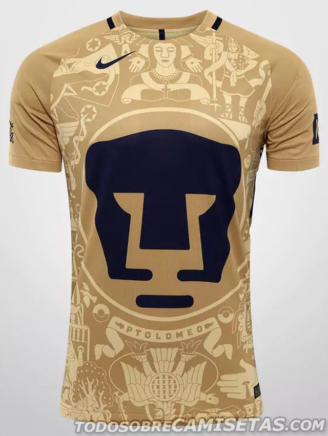 Jerseys Nike de Pumas UNAM 2016-17