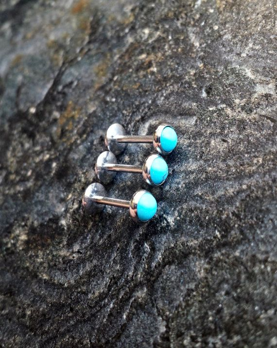 5mm Turquoise 16g 1.2mm 5/16 8MM Piercing by FeatherBlueJewelry