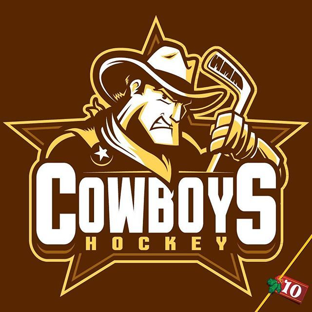 Design 10 Of 25 Custom Hockey Logo For The Adelaide Cowboys All The Way Down In Adelaide Australia Cowboys Logo Illustra Sports Logo Logos Art Logo