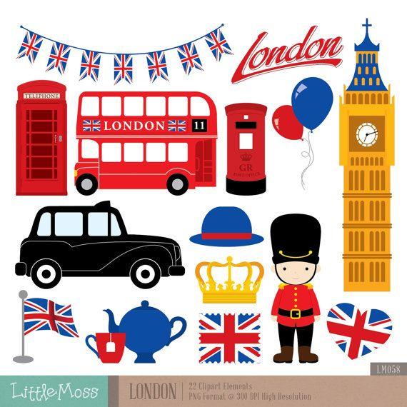 London Clipart British Clipart England Clipart by LittleMoss