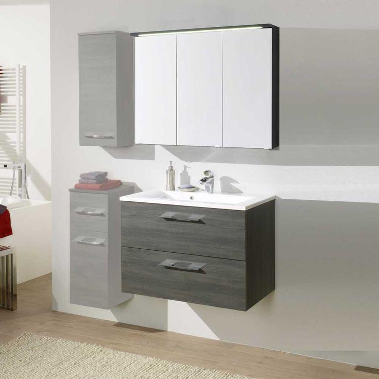 Badezimmer Set In Grau Spiegelschrank (2 Teilig) Jetzt Bestellen Unter: ...