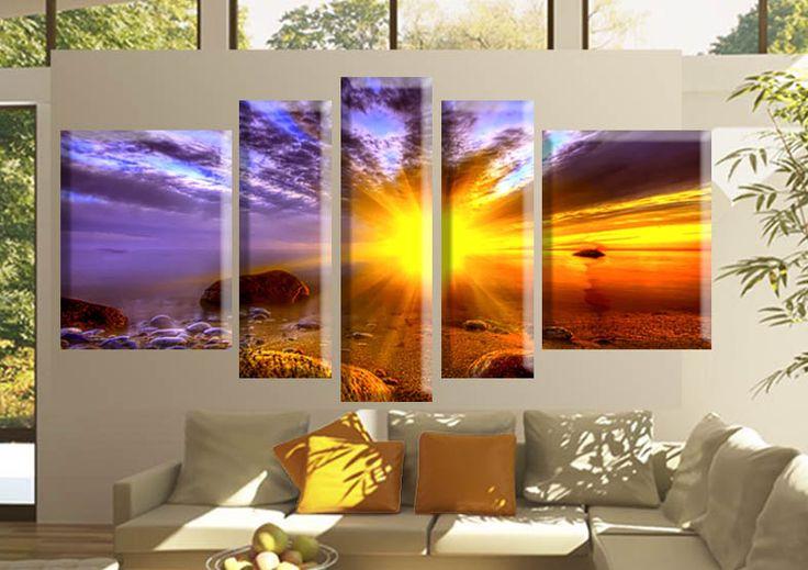 Tablouri sunset 1379 Dimensiuni: 2x 35x45 - 2x 20x60 - 1x 20x70 cm Total: 130x70 cm  http://etablou.ro/osc/product_info.php/cPath/54/products_id/698 Telefon : 0755-62.92.37