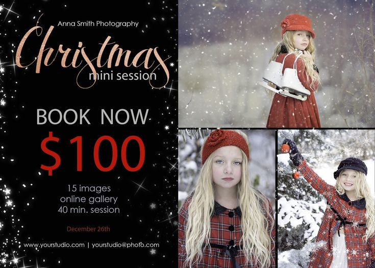 Excited to share the latest addition to my #etsy shop: Christmas mini session template, psd photoshop template, Mini Session Advertising, Winter Mini, Christmas mini session,rose gold, black http://etsy.me/2zkpRgH #art #drawing #photomask #digital #photoshop #templates #photograp