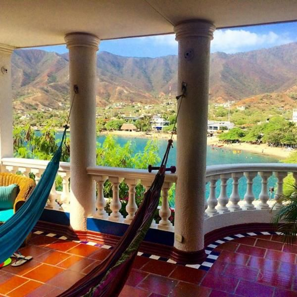 Casa Moringa Hostel in Taganga, Colombia via @danssmith88