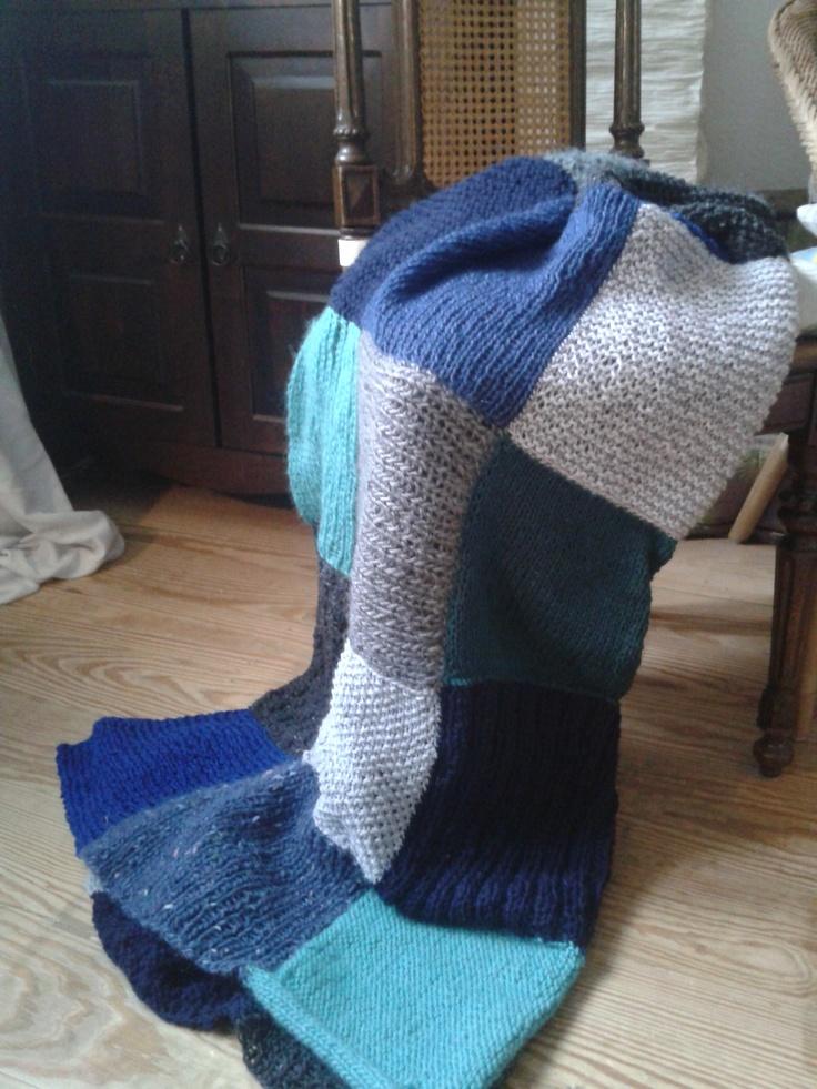 Knitted Garter Stitch Blanket In Sheepsdown : 1000+ images about Garter stitch blanket ideas on Pinterest Flower granny s...